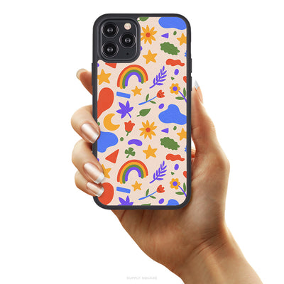 Cute Summer Shapes Vegan Leather iPhone Case