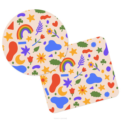 Cute Summer Shapes Mouse Pad