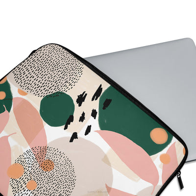 Pink And Green Abstract Laptop Sleeve - Supply Square