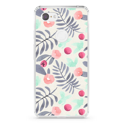 Pink And Grey Flowers Pixel Case - Supply Square