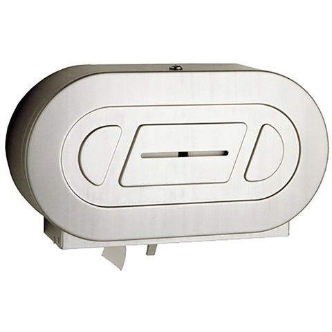 Surface-Mounted Twin Jumbo-Roll Toilet Tissue Dispenser