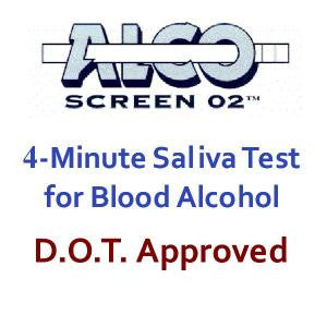 ALCO-SCREEN 02® TEST Saliva Alcohol
