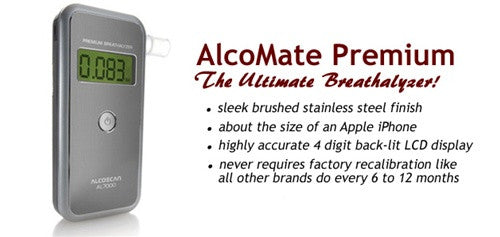 AlcoMate Premium  Breath Alcohol Test (Model AL7000)