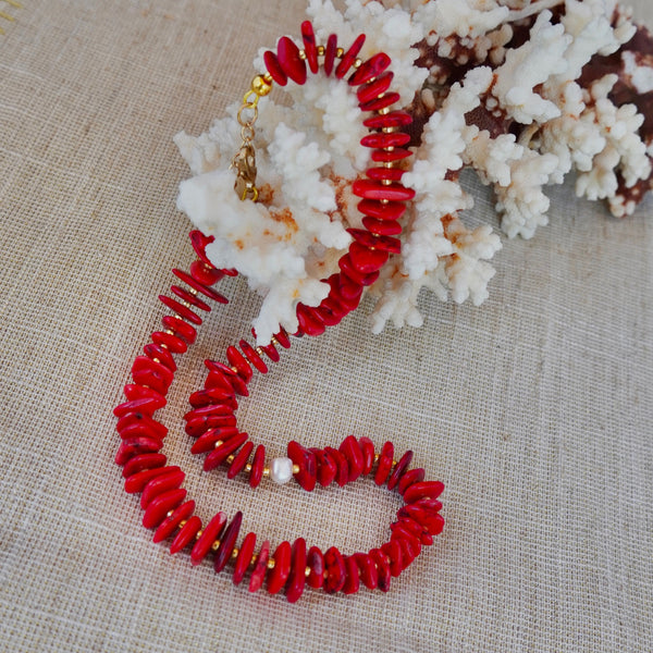 Red with Fresh Water Pearl