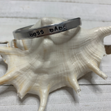 Hand Stamped Open Cuffs