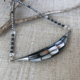 Hematite and Mother of Pearl Short Necklace