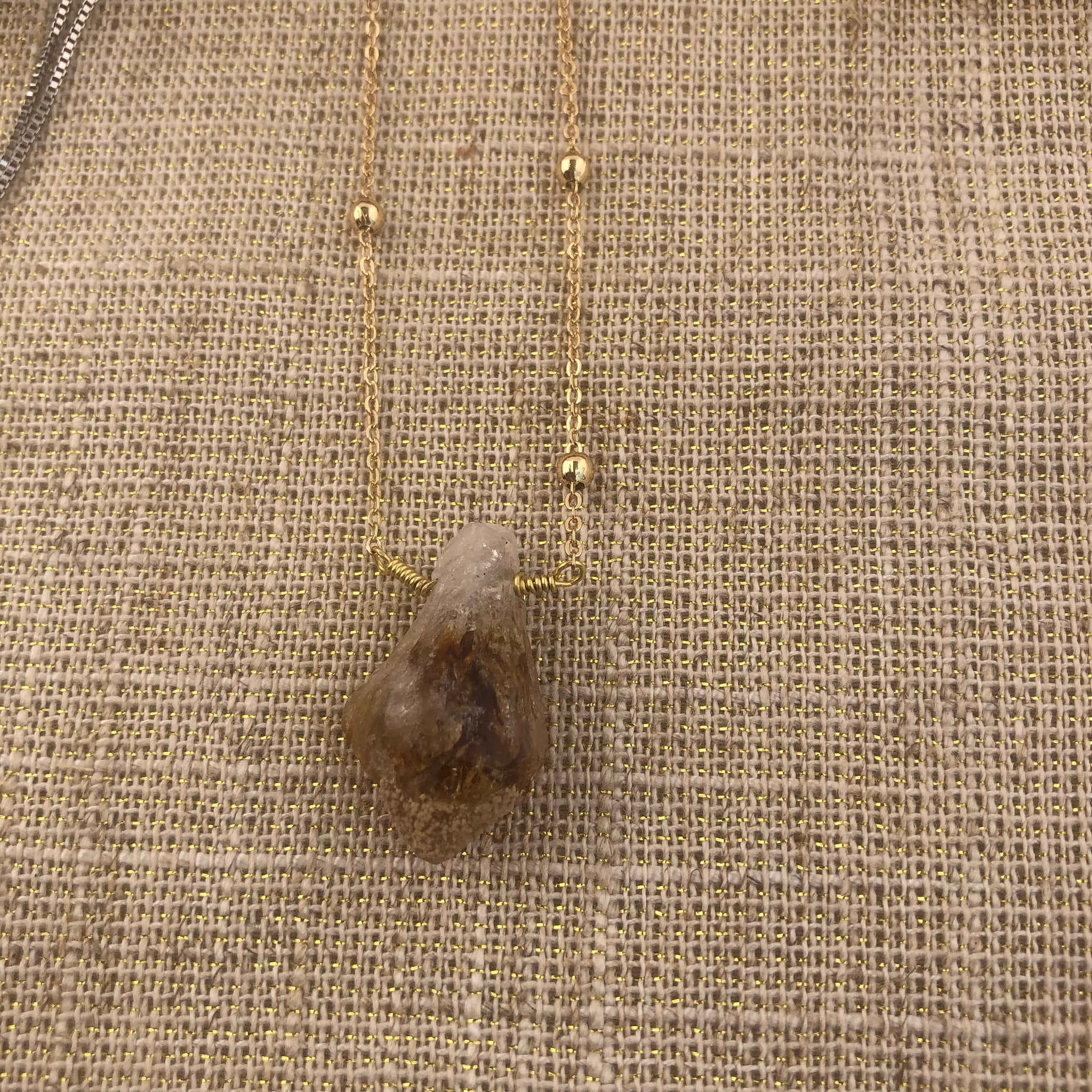 Long Citrine necklace