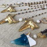 Golden Shark Tooth Layered Necklace