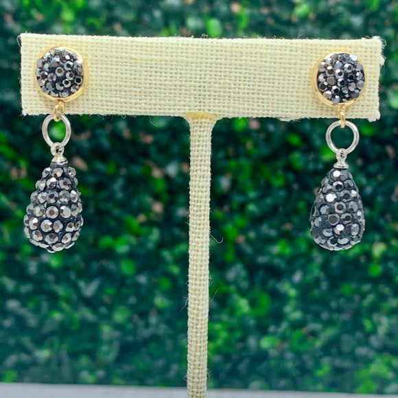 Small Pave Teardrop Earrings