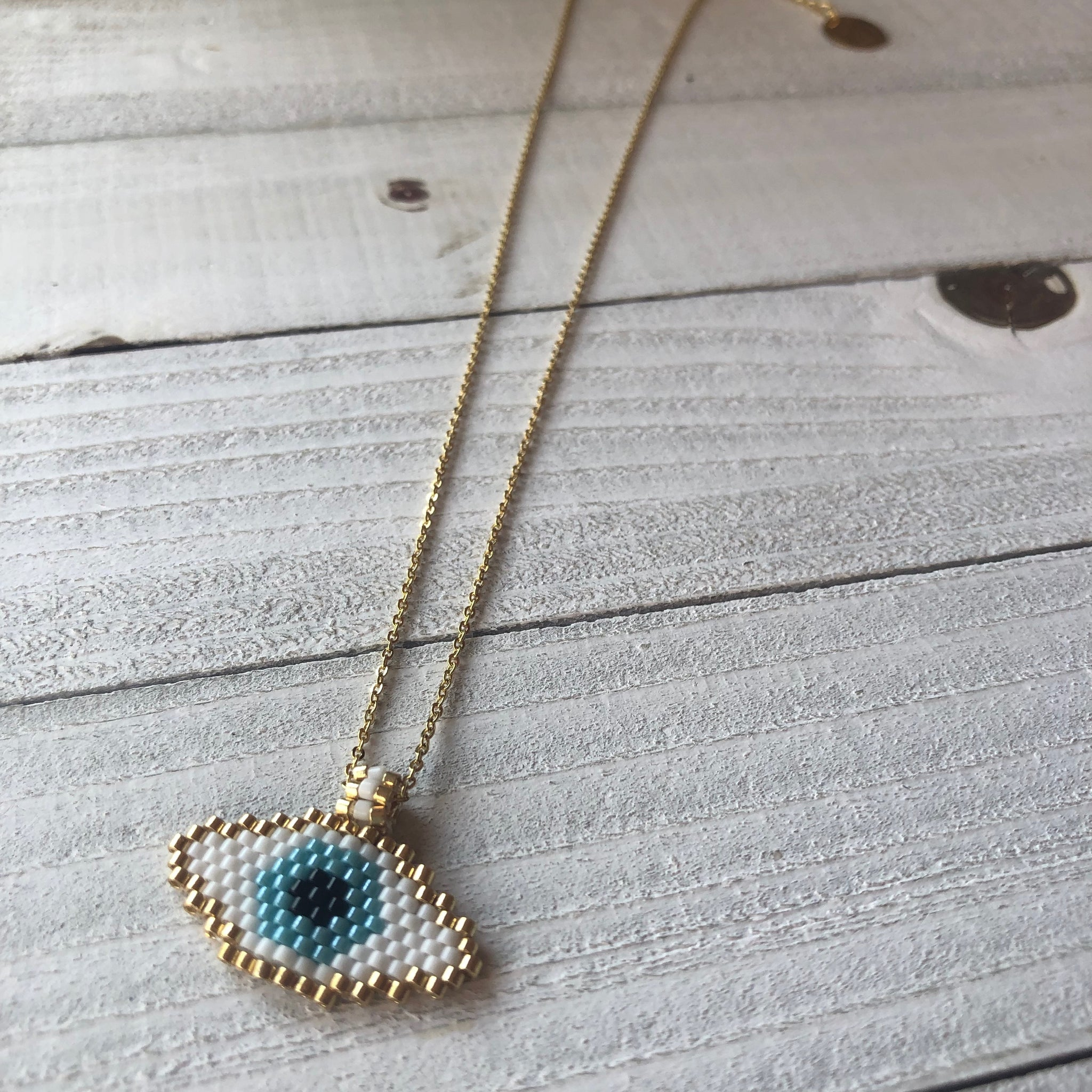 Beaded Evil Eye Necklace
