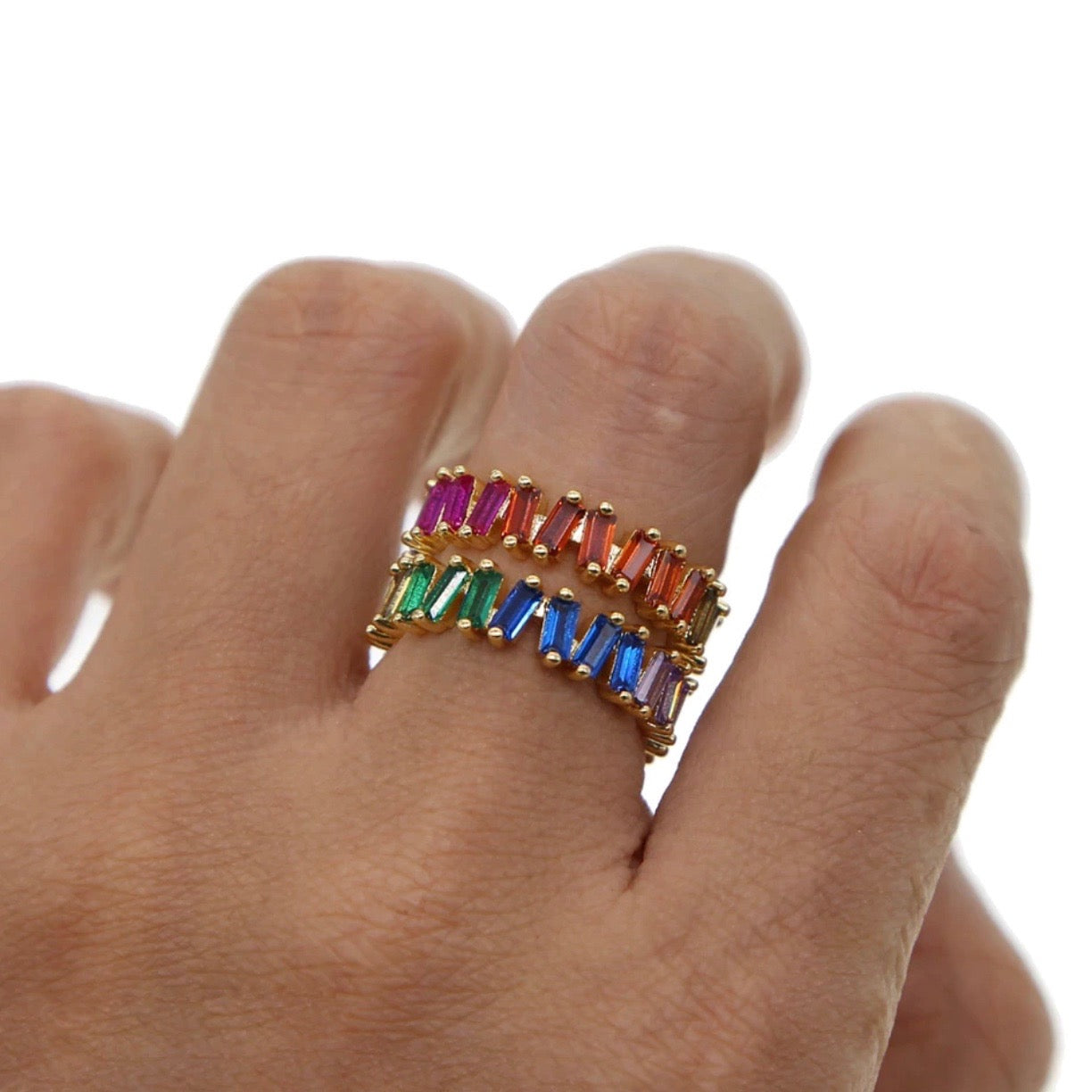 Multicolor Ring Zig Zag