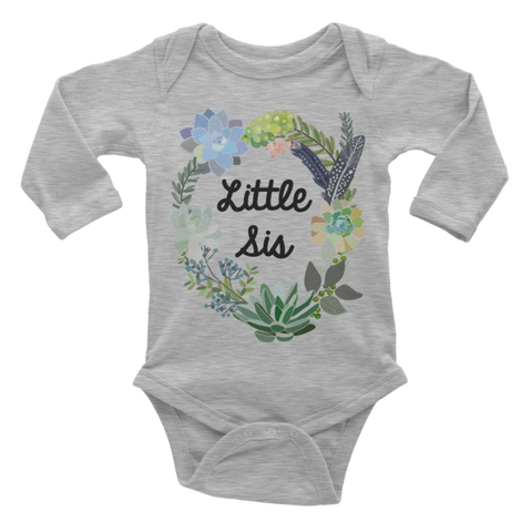 Little Sis Onesie | Long Sleeve | Succulent Collection