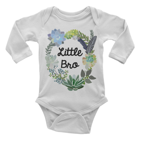 Little Bro Onesie | Long Sleeve | Succulent Collection