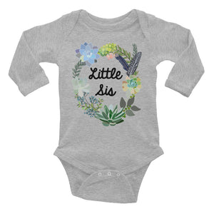 Little Sister Onesie | Long Sleeve | Succulent Collection