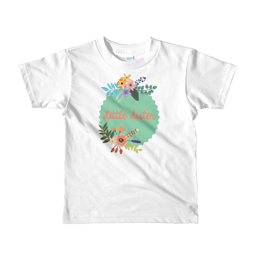 Little Sister T-Shirt | Floral | Boho Mint