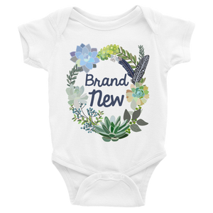 BRAND NEW ONESIE | SHORT SLEEVE | SUCCULENT COLLECTION