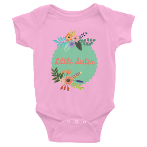 LITTLE SISTER ONESIE | SHORT SLEEVE | BOHO FLORAL