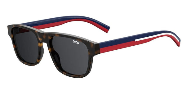 DIORFLAG2 086 HAVANA BLUE/RED