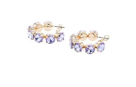 FEE CRYSTAL HOOPS