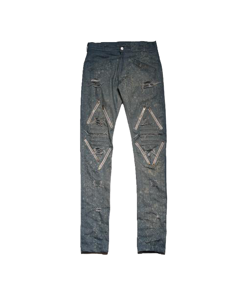 5IVE JEANS (BLUE WASH DENIM W/ ZIPPERS)