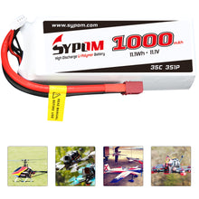 Load image into Gallery viewer, Sypom 1000mAh 35C 3S 11.1V LIPO Battery