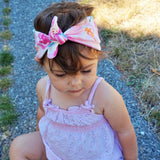 Watercolor Flowers Top Knot Headband, Headbands   The Homemade Kid