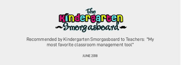 """Recommended by Kindergarten Smorgasboard to Teachers:  """"My most favorite classroom management tool"""" JUNE 2018"""