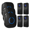 FULL HOUSE WIRELESS DOORBELL SET - 3 RECEIVERS + 4 BUTTONS - Revopure