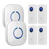 FULL HOUSE WIRELESS DOORBELL SET - 2 RECEIVERS + 4 BUTTONS - Revopure