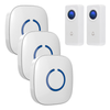 FULL HOUSE WIRELESS DOORBELL SET - 3 RECEIVERS + 2 BUTTONS - Revopure