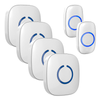 FULL HOUSE WIRELESS DOORBELL SET - 4 RECEIVERS + 2 BUTTONS - Revopure