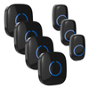 FULL HOUSE WIRELESS DOORBELL SET - 4 RECEIVERS + 3 BUTTONS - Revopure