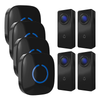 FULL HOUSE WIRELESS DOORBELL SET - 4 RECEIVERS + 4 BUTTONS - Revopure