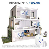 Doorbell - SKYPOINT Extra Add-On Window or Door Sensor - compatible with All SadoTech Expandable Series Long Range Wireless Doorbell Chime Alert System, White - SadoTech