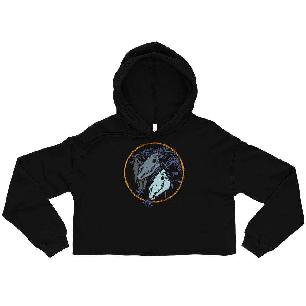 """All the Pretty Horses"" Crop Fleece-Hoodie"