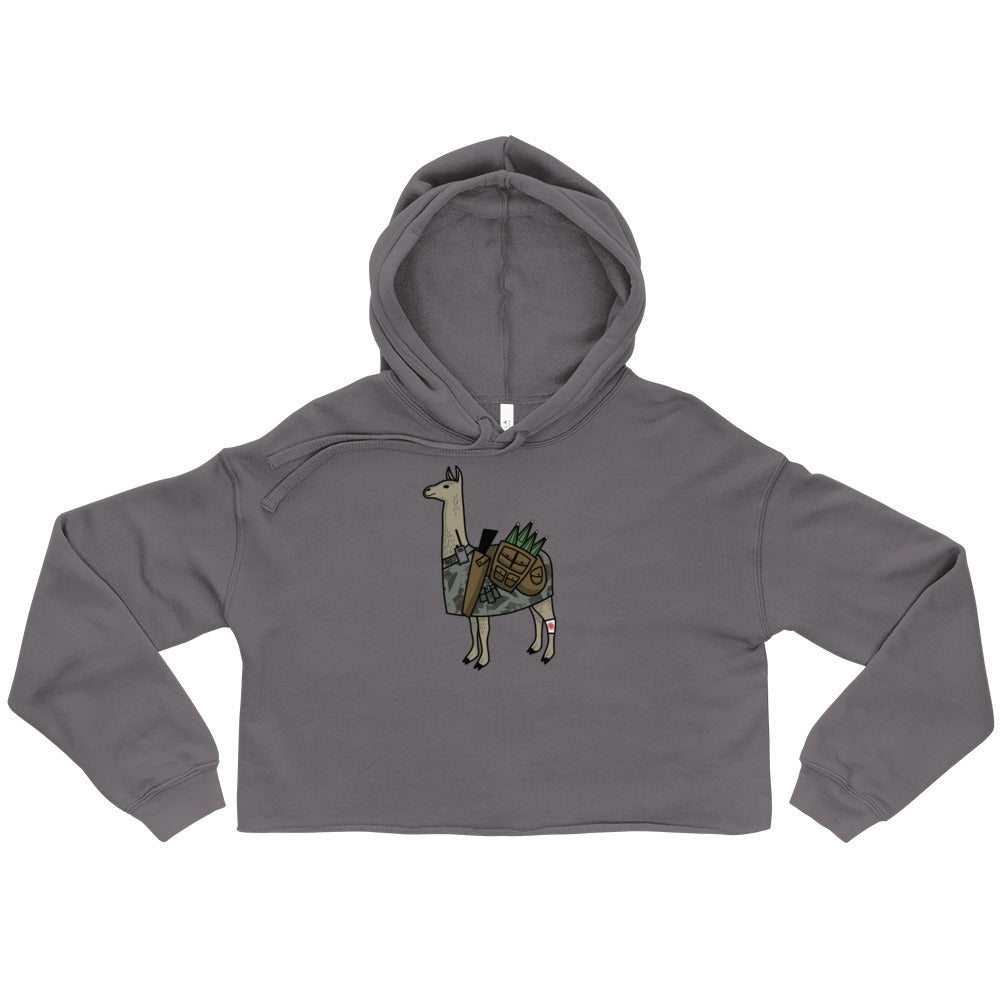 """Packin Heat"" Crop Fleece Hoodie"