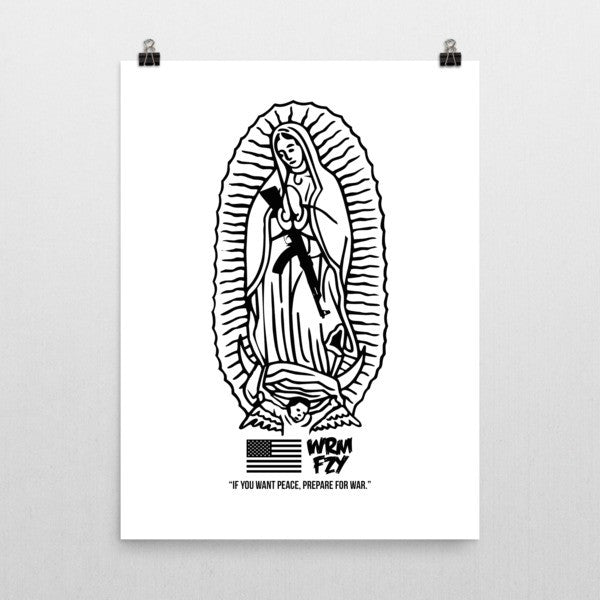 """If you want peace"" Print (white)"