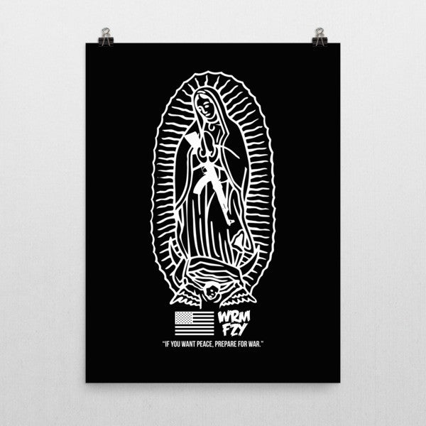 """If you want peace"" Poster (black)"