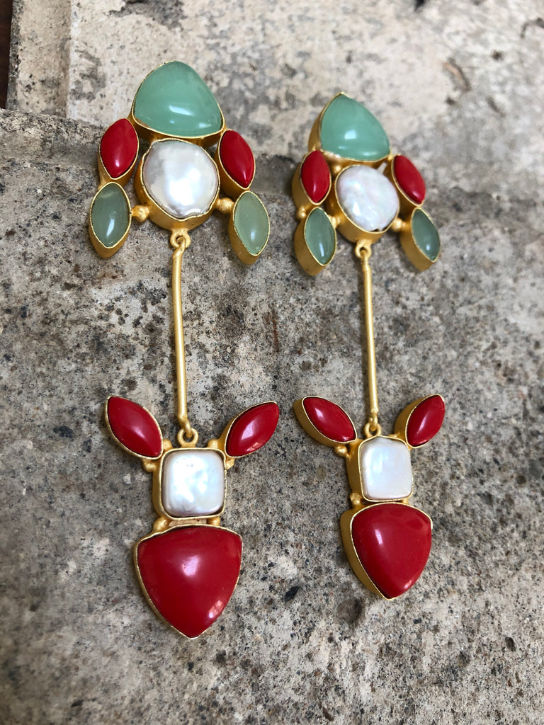 Semi Precious Stone Earrings For Women |  Earrings for Women South Africa