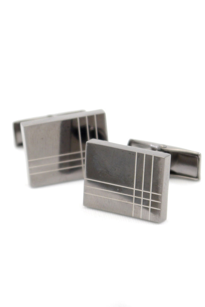 Silver Windowpane Cufflinks