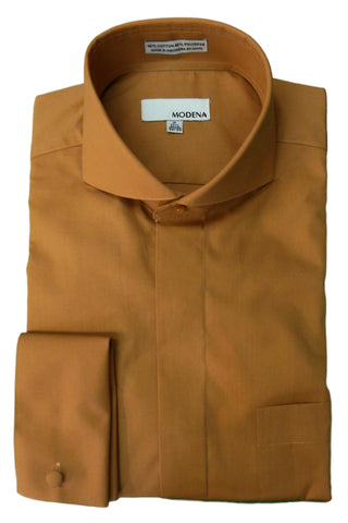 Rust Cutaway Collar Dress Shirt