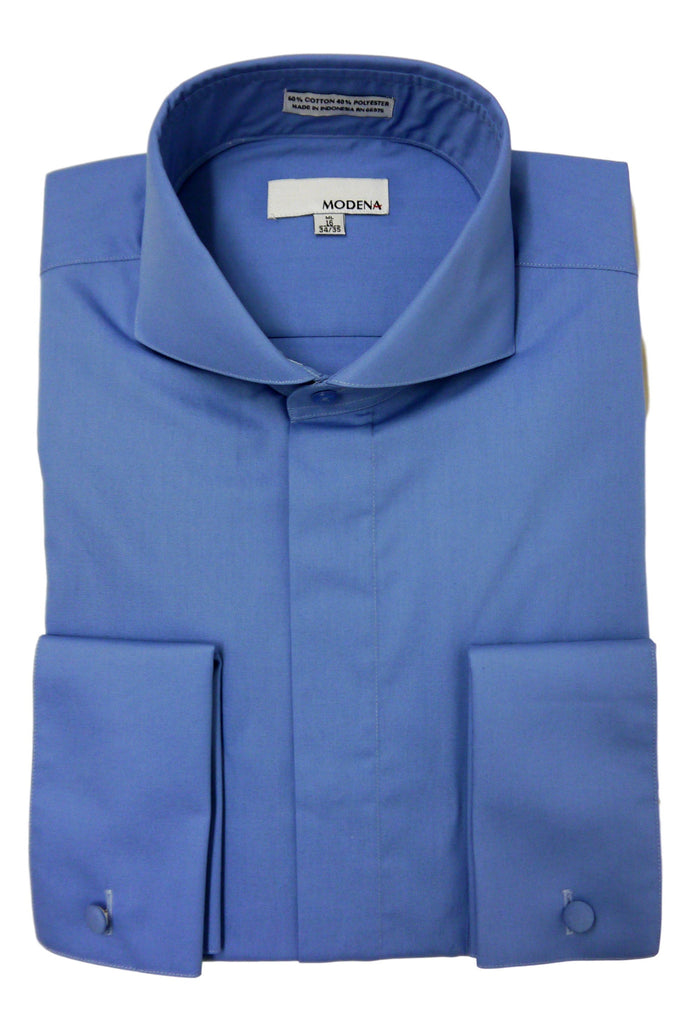 Cadet Blue Cutaway Collar Dress Shirt
