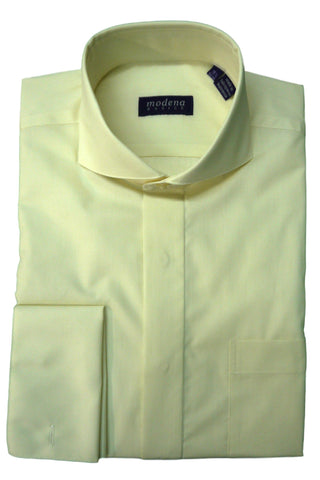 Cream Cutaway Collar Dress Shirt