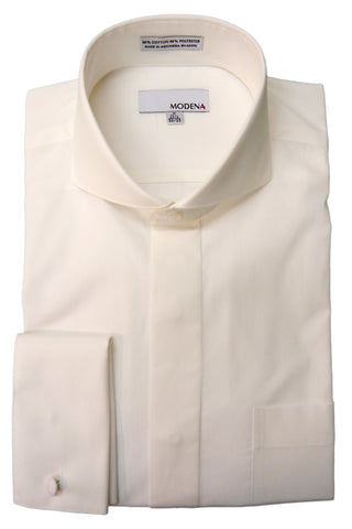 Eggshell Cutaway Collar Dress Shirt