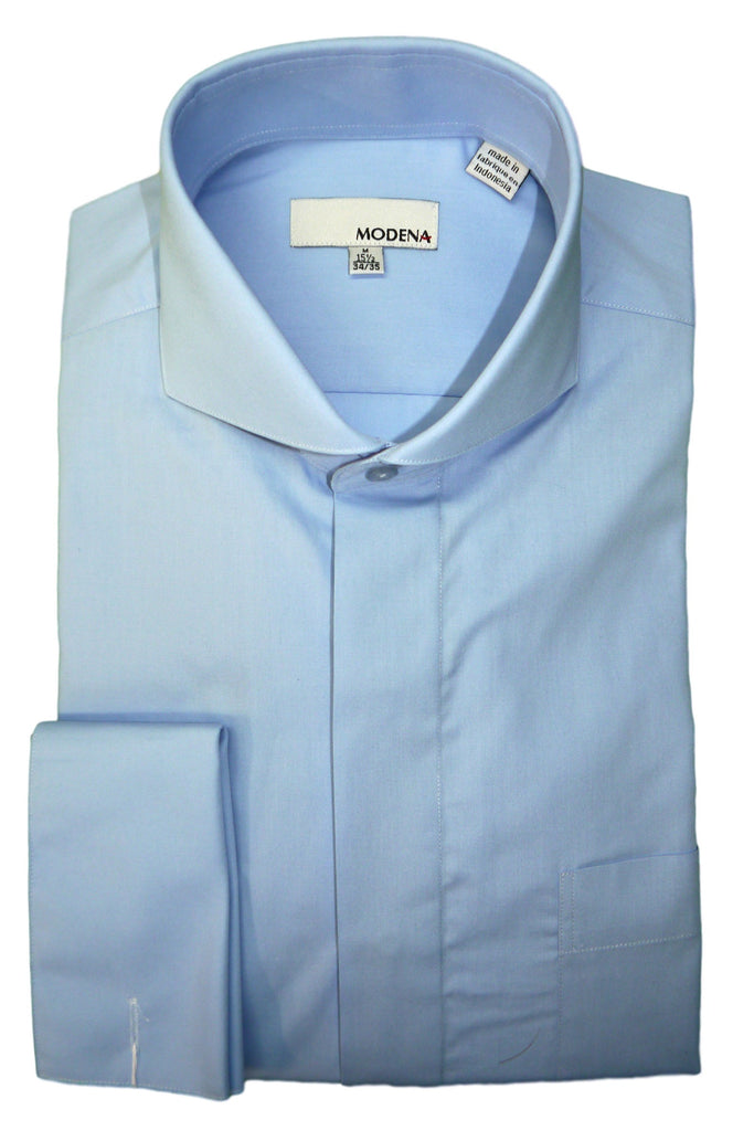 Powder Blue Cutaway Collar Dress Shirt