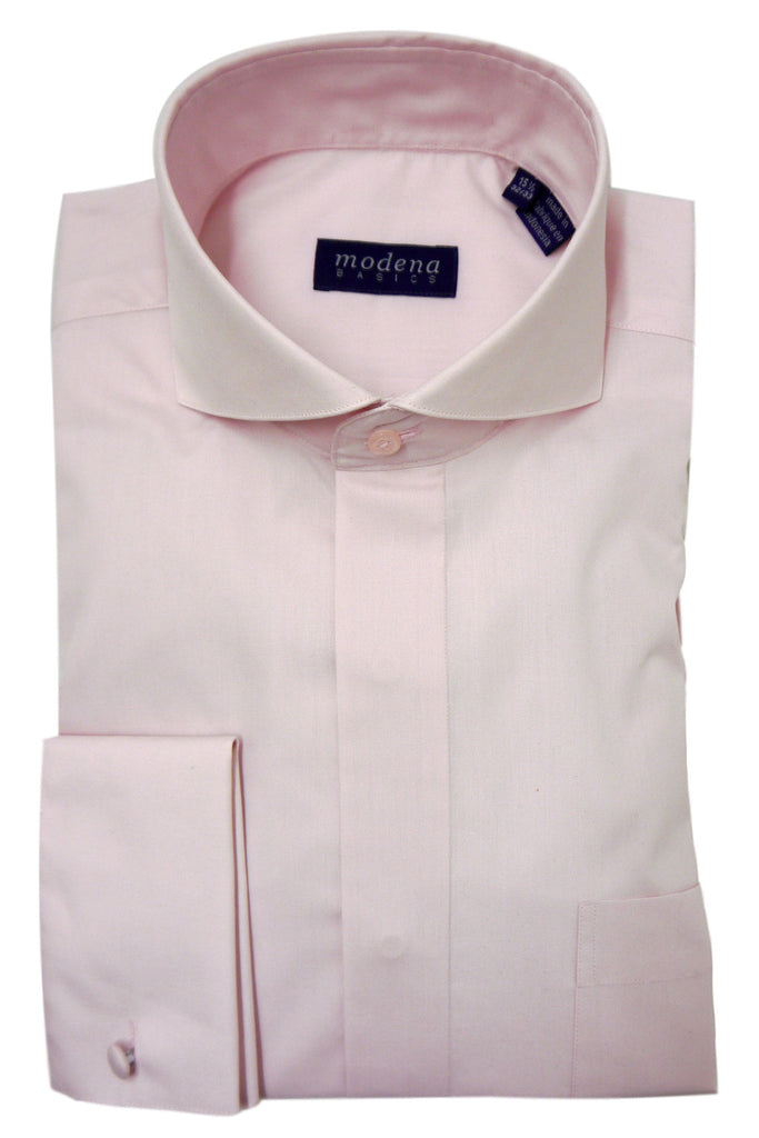 Pink Cutaway Collar Dress Shirt