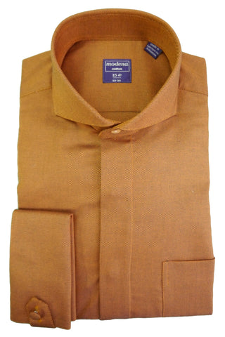 Orange Tic Cutaway Collar Dress Shirt