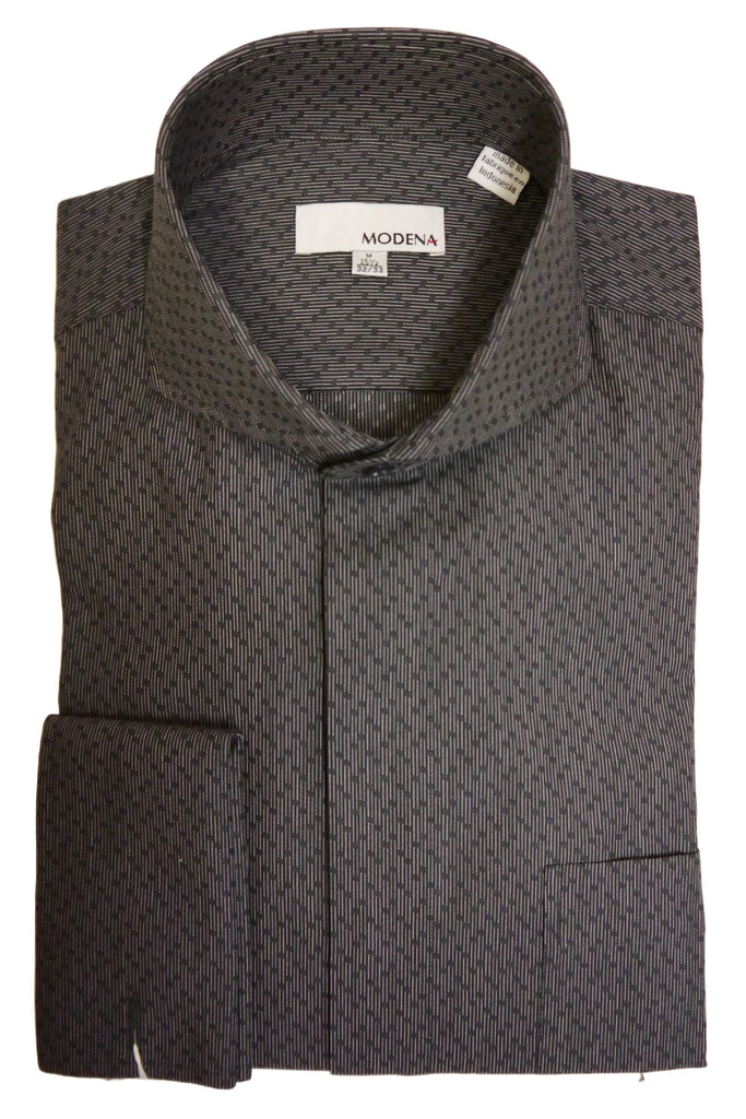 Charcoal Dobby Cutaway Collar Dress Shirt