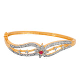 Touchstone Princess Delight Brass Yellow Gold, Rhodium Plated Bracelet- BBBR-189-01AR-M