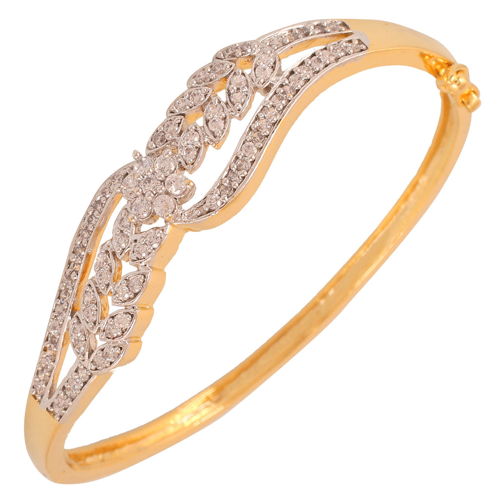 Touchstone Princess Delight Brass Yellow Gold, Rhodium Plated Bracelet- BBBR-204-01A--M